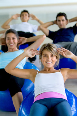 Beginner group training Pilates classes