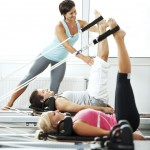 Pilates Reformer Stretching Exercise