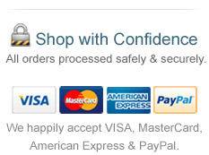Shop with Confidence. All orders are processed safely and securely.