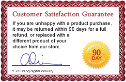 90 Day Customer Satisfaction Guarantee 
